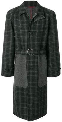 Salvatore Ferragamo panelled checked coat