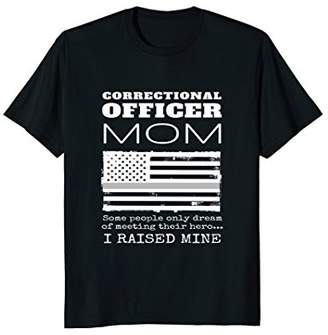 Correctional Officer Mom Thin Silver Line Gift T-shirt