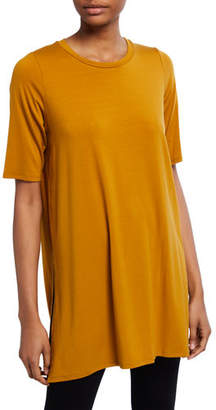 Eileen Fisher Plus Size 1/2-Sleeve Round-Neck Tunic
