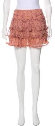 Zadig & Voltaire Ruffled Silk Skirt