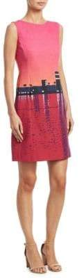 Akris Punto Sunset-Print Cotton Shift Dress