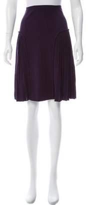 Saint Laurent Pleated Knee-Length Skirt
