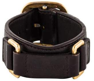 Saint Laurent Leather Cuff