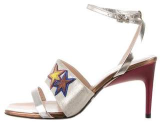 Paul Smith Leather Ankle Strap Sandals