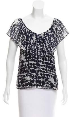 Myne Printed Silk Top