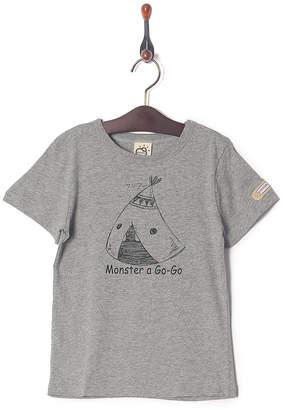 Kid's Pajama & More 杢グレー プリント半袖Tシャツ
