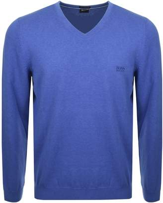 HUGO BOSS Pacello Knit Jumper Blue