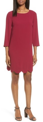 Women's Cece Scalloped Hem Shift Dress $129 thestylecure.com