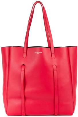 Balenciaga Red Everyday Medium Leather tote bag