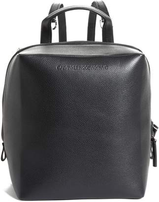 Calvin Klein Cube Leather Backpack