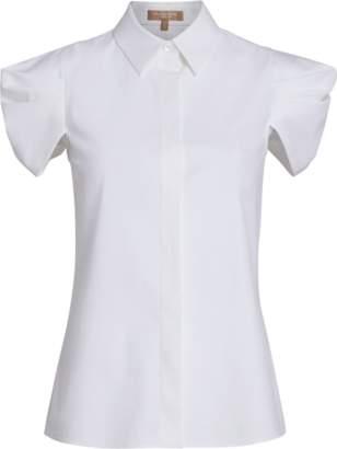 Michael Kors Draped Button Down Shirt