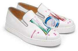 Christian Louboutin Loubi Love Leather Sneakers