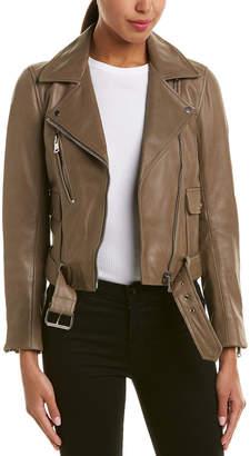 Reiss Kate Leather Biker Jacket