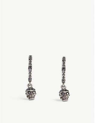 Alexander McQueen Skull pendant hoop earrings