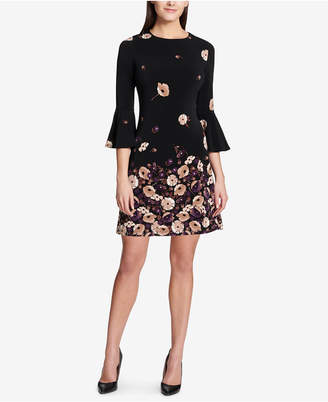 Tommy Hilfiger Printed Bell-Sleeve Dress