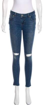 Anine Bing Low-Rise Skinny Jeans