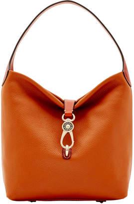 Dooney & Bourke Pebble Grain Small Logo Lock Shoulder Bag