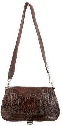 Prada Alligator Buckle Bag