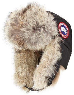Canada Goose Coyote-Fur Aviator Hat $250 thestylecure.com
