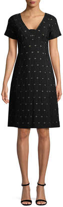 Piazza Sempione Geometric A-Line Dress