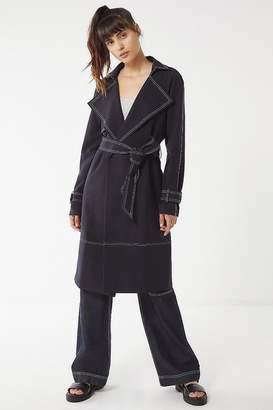 Elliatt New York Contrast Stitch Trench Coat