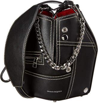 Alexander McQueen Biker Leather Bucket Bag