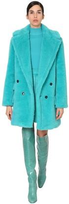 Max Mara Alpaca & Wool Midi Teddy Coat