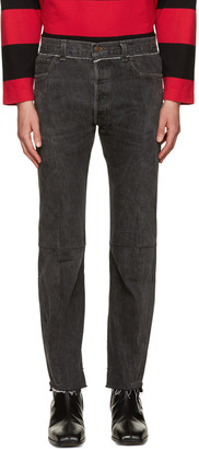 Vetements Black Reworked Jeans $1,690 thestylecure.com