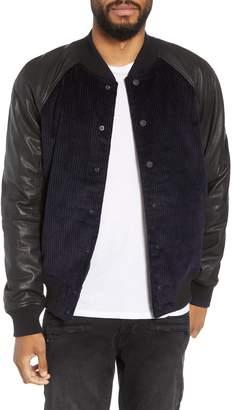 Hudson Jeans Leather Varsity Jacket