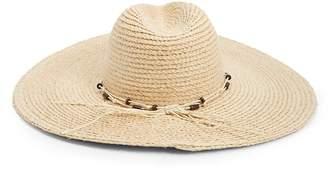 Forever 21 Wide-Brim Straw Fedora Hat