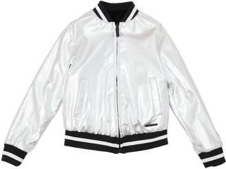 DKNY Reversible Faux Leather & Plush Jacket
