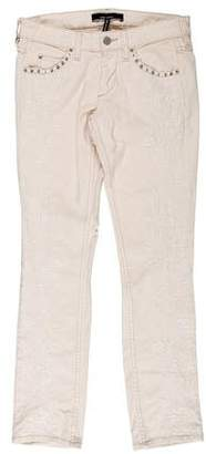 Isabel Marant Embroidered Straight-Leg Jeans