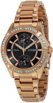Citizen Bulova Women's Pov Eco-Drive Crystal Watch