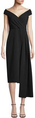 Eliza J Off-The-Shoulder Sweetheart Drape Dress
