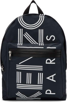 Kenzo Navy Large Logo Backpack