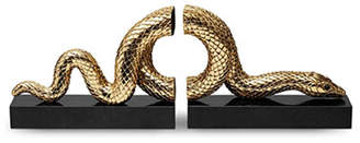 L'OBJET Snake Bookend Set