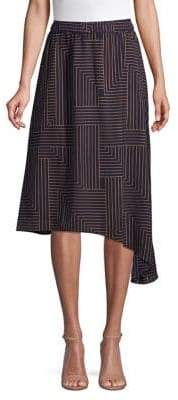 Vero Moda Asymmetrical Knee-Length Skirt