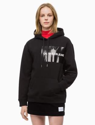 Calvin Klein logo block hoodie sweatshirt