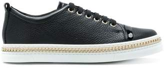 Lanvin lace-up chain sneakers
