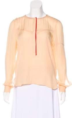 A.L.C. Silk Long Sleeve Blouse