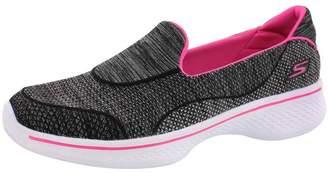 Skechers Girls' GOwalk 4 Speedy Sports Super Sock Slip On Walking Shoe Black/Pink 3 M US