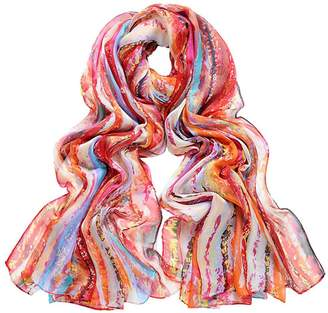 Violet Del Mar Digital Wave Scarf