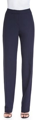 St. John Collection Modern Stretch Tropical Pants, Navy $495 thestylecure.com