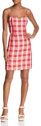 Bardot Tie-Back Plaid Dress