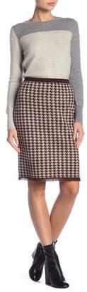 Kier & J Houndstooth Pencil Skirt