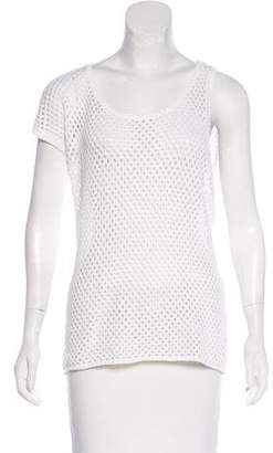 Neil Barrett Open Knit Scoop Neck Top