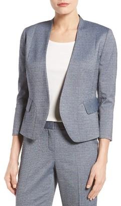 Women's Emerson Rose Papyrus Weave Suit Jacket $179 thestylecure.com