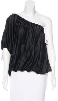 Thomas Wylde Silk One-Shoulder Tunic