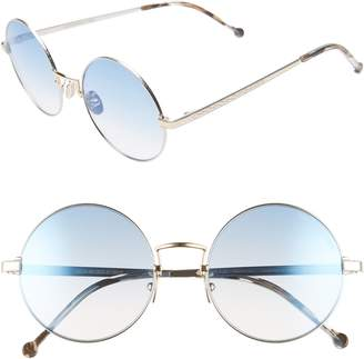 Cutler and Gross 53mm Polarized Round Sunglasses