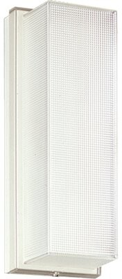 Latitude Run Hollen White Ribbed Ceiling or Wall Compact Fluorescent 1-Light Flush Mount Latitude Run